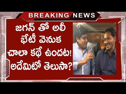 Reasons Behind Tollywood Comedian Ali Meets YS Jagan | Why Comedian ALI Meets YS Jagan