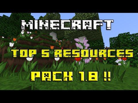 TOP 5 RESOURCES  PACK PARA MINECRAFT 1.8 !!