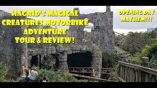 Hagrid's Magical Creatures Motorbike Adventure OPENING DAY MAYHEM / Tour & Review Universal Orlando