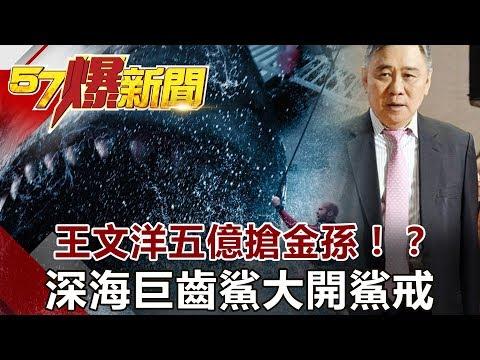 台灣-57爆新聞-20180815-王文洋五億搶金孫!? 深海巨齒鯊大開鯊戒