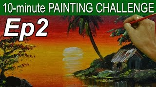 Episode 2 | 10 Minute Acrylic Painting Challenge by JM Lisondra