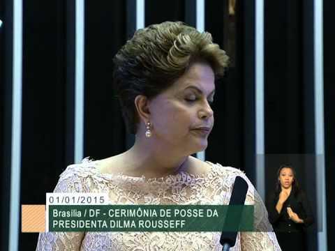 Dilma Rousseff e Michel Temer assinam termo de posse no Congresso Nacional