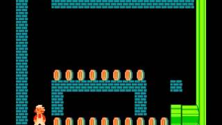 Super Mario Bros 1 nes long run no warps many secrets