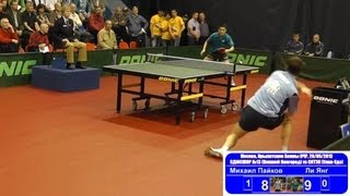 Mikhail PAYKOV vs LI Yang 1/8 Russian Premier League Playoff Table Tennis