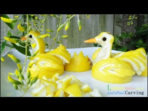 Art In Lemon Show - Rubber Duck Fruit Carving Tutorial