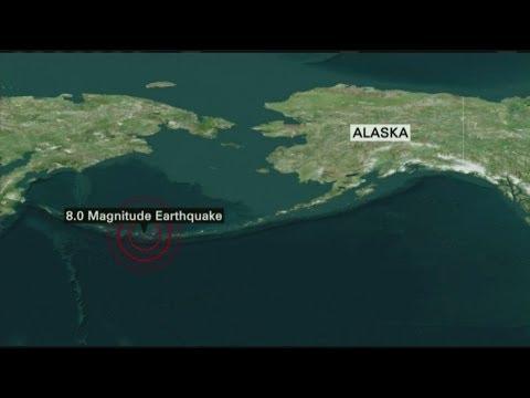 Magnitude-7.9 Alaska quake spawns small tsunami