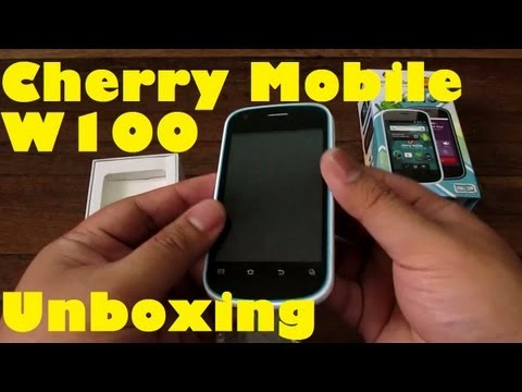 Cherry Mobile W100 Unboxing - Android Phone With 3G & 1Ghz Processor For Only PHP 3.499