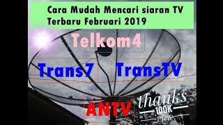 mencari siaran prabola trans7 dan transtv terbaru 2019