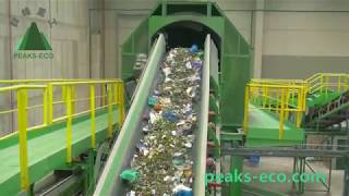 Waste sorting plant  MBT plant+Composting, the best waste recycling system (Peaks-eco)
