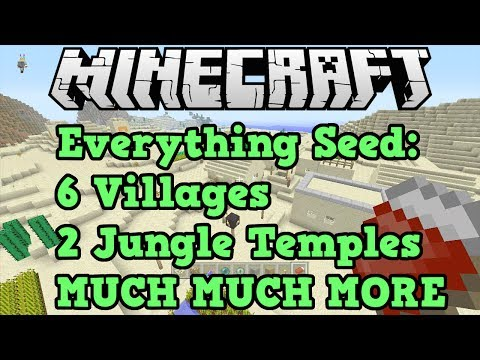 Minecraft Xbox 360 + PS3 Seed: 6 Villages, 2 Jungle Temples + EMERALDS