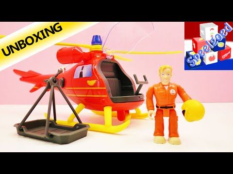Brandweerman Sam speelgoedhelicopter Wallaby Nederlands – Piloot Tom vliegt – Unboxing & demo