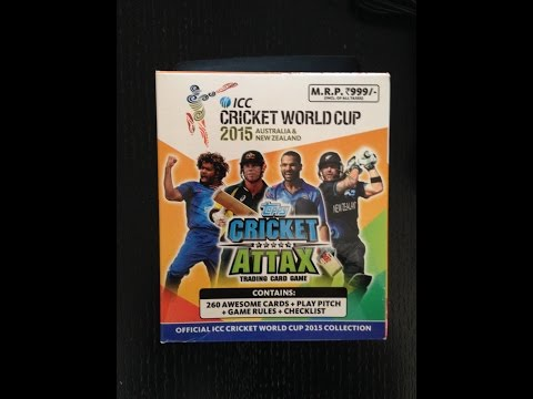 YOUTUBE PREMIERE CRICKET ATTAX 2015 WORLD CUP CARRY BOX