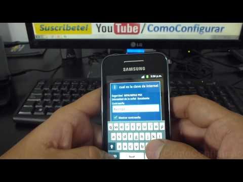 como configurar wifi Samsung Galaxy Ace español Full HD
