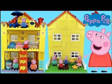 Nick Jr. Peppa Pig Family House DUPLO Lego Construction Set George Shopkins Happy Places Toys / TUYC