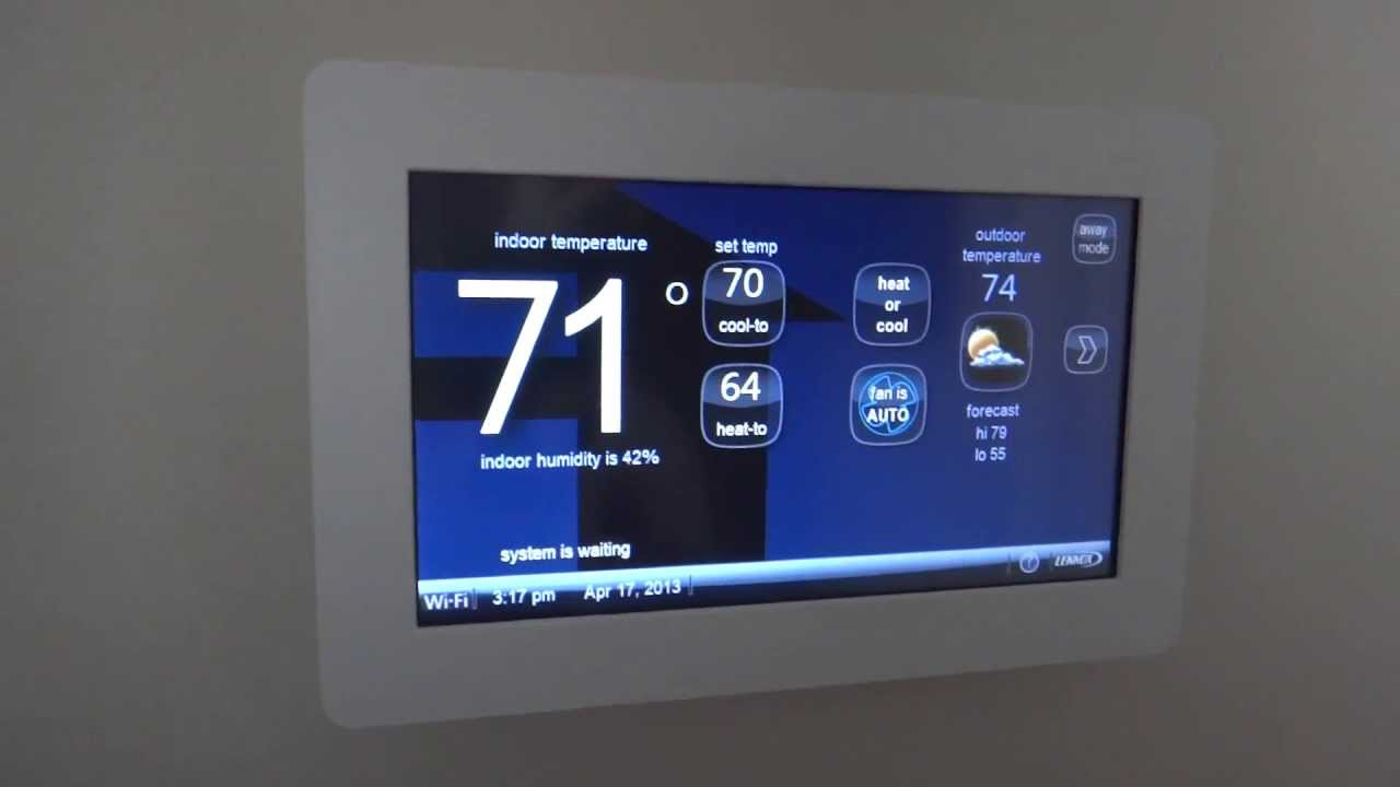 Lennox Enabled Thermostat Color Touch Screen Introduction And Review Youtube
