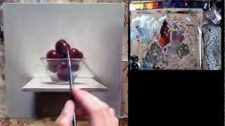 Learn how to paint cherries - painting tutorial video
