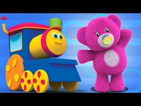 gli orsacchiotti si girano   bob il treno   filastrocche   bambini canzoni   Bob Train Teddy Bears
