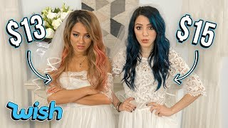 Trying on Wedding Dresses Under $20 from WISH.. This is what we got.