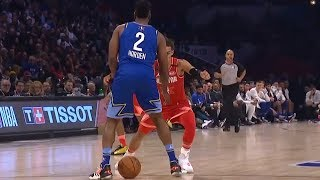 Trae Young NUTMEGS James Harden - 2020 NBA All-Star Game