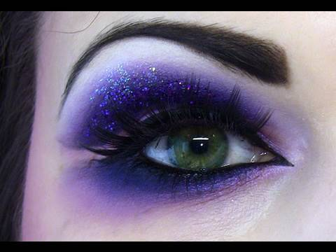 Naughty Purple Eyes Dramatic Makeup