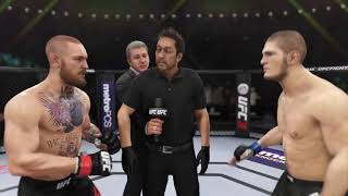 Conor McGregor vs. Khabib Nurmagomedov UFC3 25th time