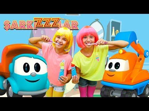 ŞarkıZZZlar! YENİ video! Diş fırçalama. Çocuk şarkısı. Kamyon Leo ile Okul Öncesi Eğitim
