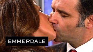 Emmerdale - Megan Kisses Graham Who Instantly Kisses Her Back!