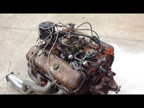 CHEVY 454 ENGINE START UP ON GROUND * HOT RATROD ENGINE  * TEST RUN * REDNECK ENGINEERING