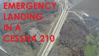 EMERGENCY LANDING IN A CESSNA 210 (KCGF to KBKW)
