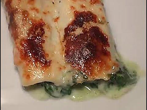 Cómo cocinar canelones rellenos de espinacas