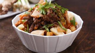 Poutine de Kimchi et Boeuf Bulgogi • Tasty Miam