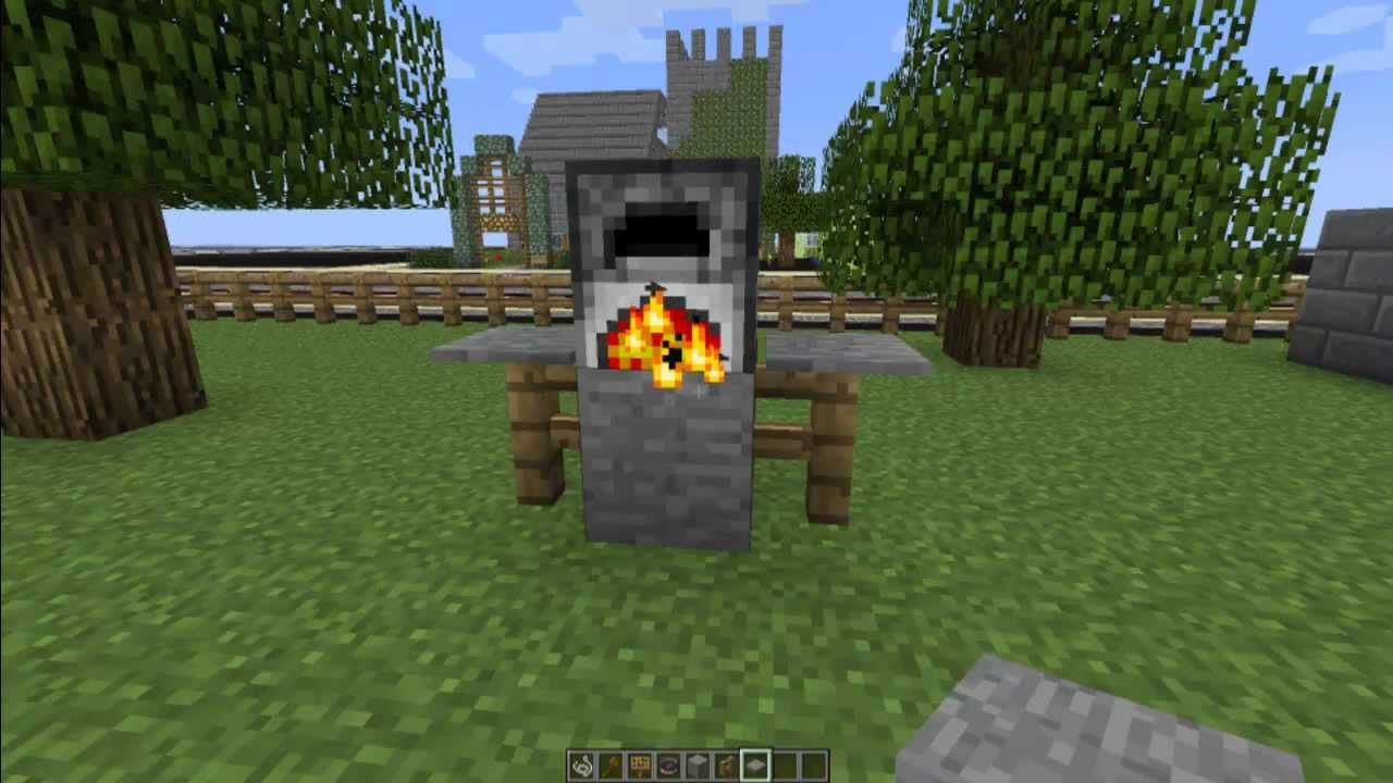 How To Make A Grill In Minecraft Minecraft Furniture Episode 25 Youtube