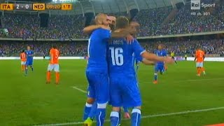 De Rossi Goal - Italy vs Netherlands 2-0 | 13/14 | [Cropped]