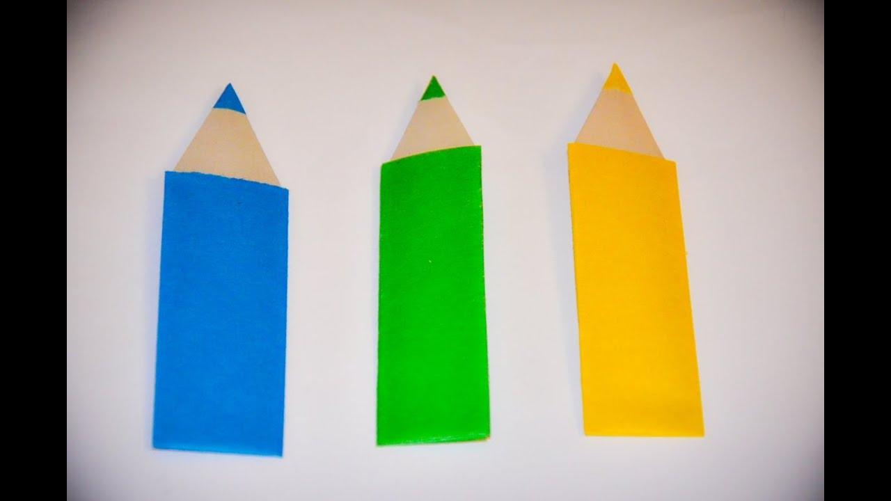 Смотреть как сделать карандаш из бумаги