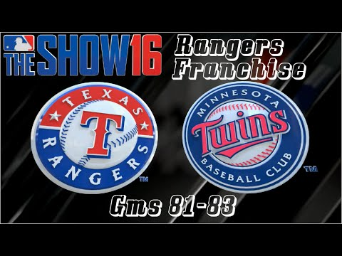 MLB 16 The Show Texas Rangers Franchise - Gms 81-83 vs Minnesota Twins