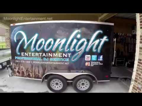 How to setup and secure equipment in a DJ / band trailer by Moonlight Entertainment DJ