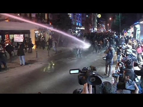 Clashes in Turkey as internet censorship protests turn violent