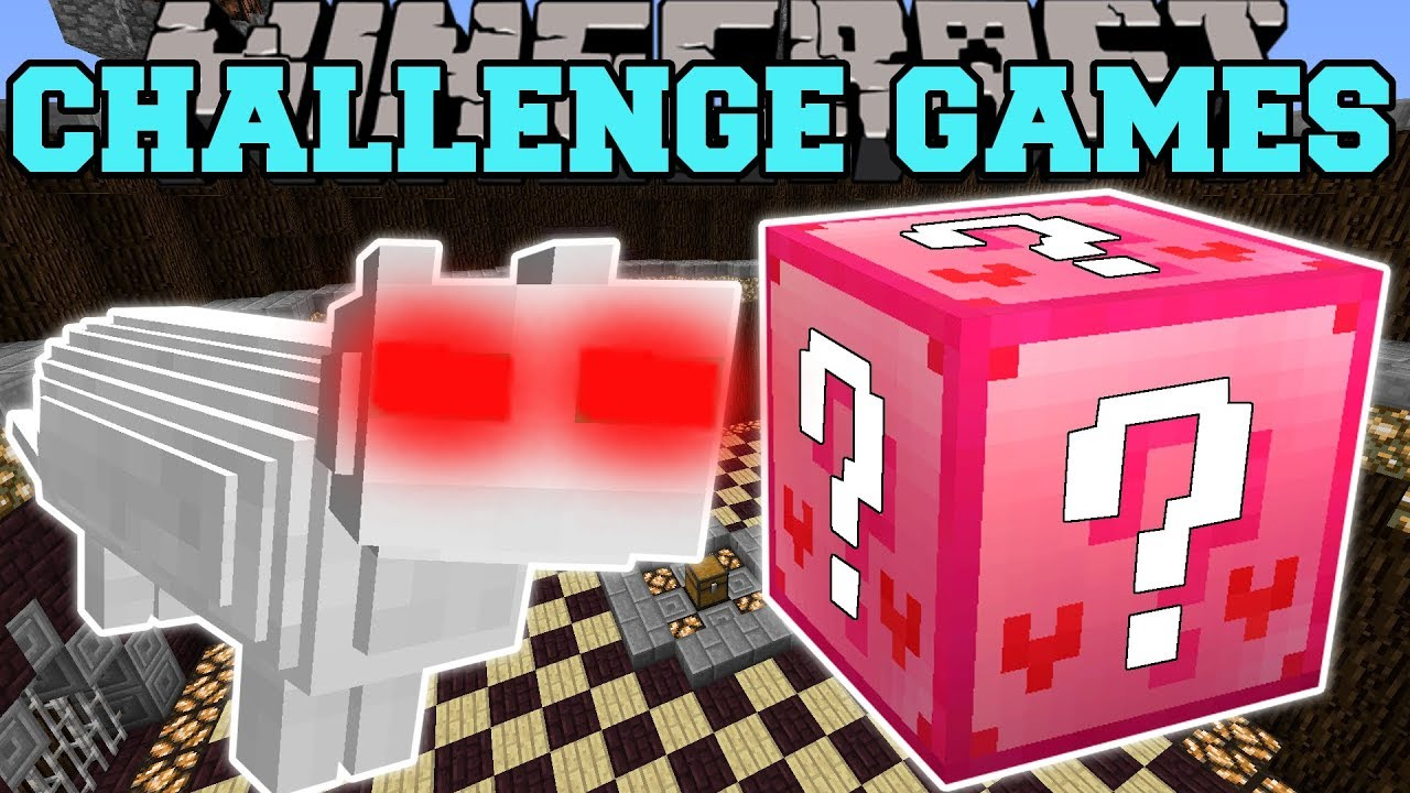 Minecraft: CLOUD THE SAVAGE CHALLENGE GAMES - Lucky Block Mod - Modded Mini-Game