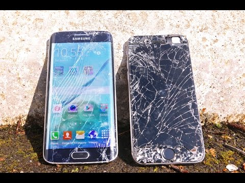 Samsung Galaxy S6 Edge VS iPhone 6 Drop Test!