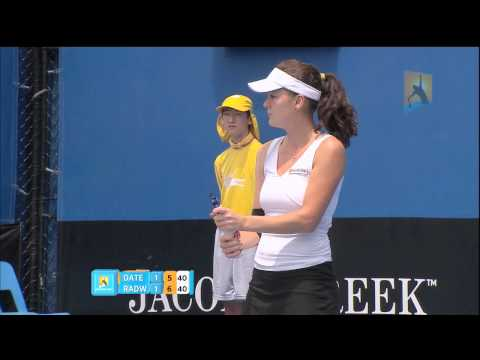 Racquet flies off handle - Australian Open 2011
