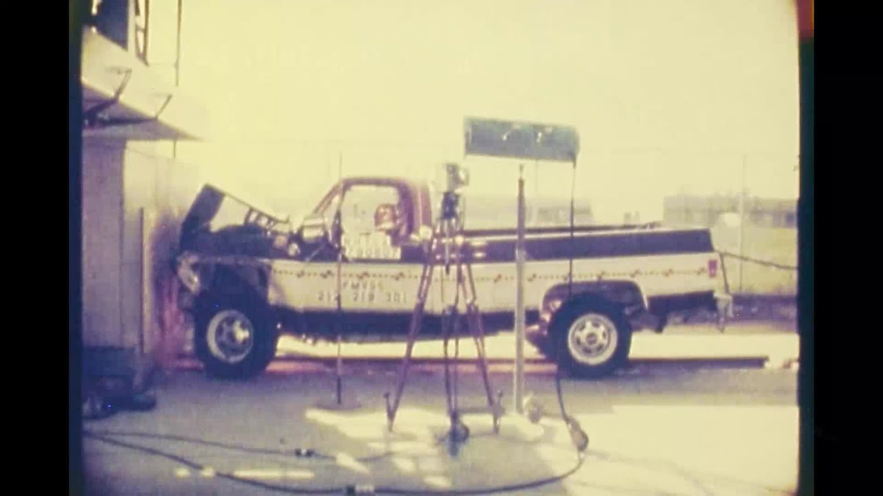 1979 Chevy Silverado K20 Gmc Pickup Frontal Crash Test