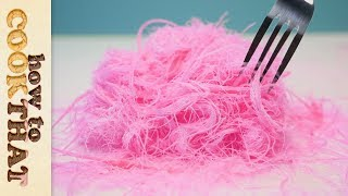 Pink Edible Hair | Pashmak Recipe | Dragons Beard | Cotton Candy | How To Cook That