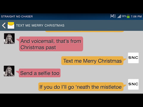 Straight No Chaser - featuring Kristen Bell - Text Me Merry Christmas (Lyric Video)