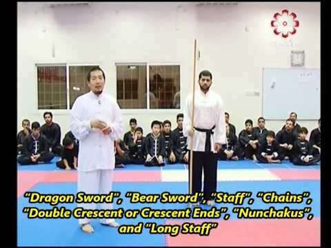 Part 6: Long Staff Demonstration - Kuwait Sports Channel Martial Arts Special w/ Sifu Khader Deng