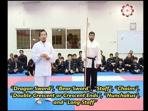 Part 6: Long Staff Demonstration - Kuwait Sports Channel Martial Arts Special w/ Sifu Khader Deng