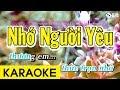 Nhớ Người Yêu - Karaoke Beat Chuẩn thumbnail