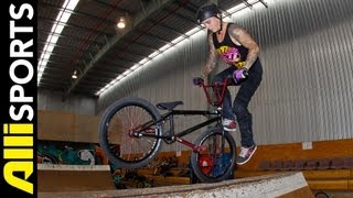 Logan Martin Double Tailwhip 360 Footjam Indoor BMX + Telling All, Alli Sports My 5