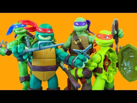 TMNT Teenage Mutant Ninja Turtles Nickelodeon Battle Shell Michelangelo Donatello Leonardo Raphael
