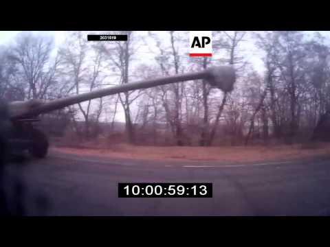 Huge armed rebel convoy in east Ukraine