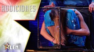 ¡Qué flexibilidad! Liza consigue meterse en una caja enana | Audiciones 5 | Got Talent España 2017